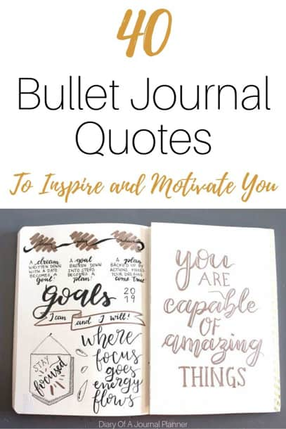 Inspirational and Motivational quotes for bullet journal