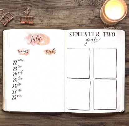 Student Goals Bullet Journal