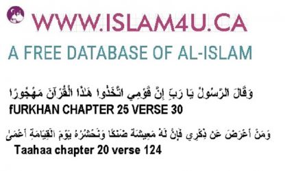 A free Data base of Authentic Islam with Quran & Hadith references