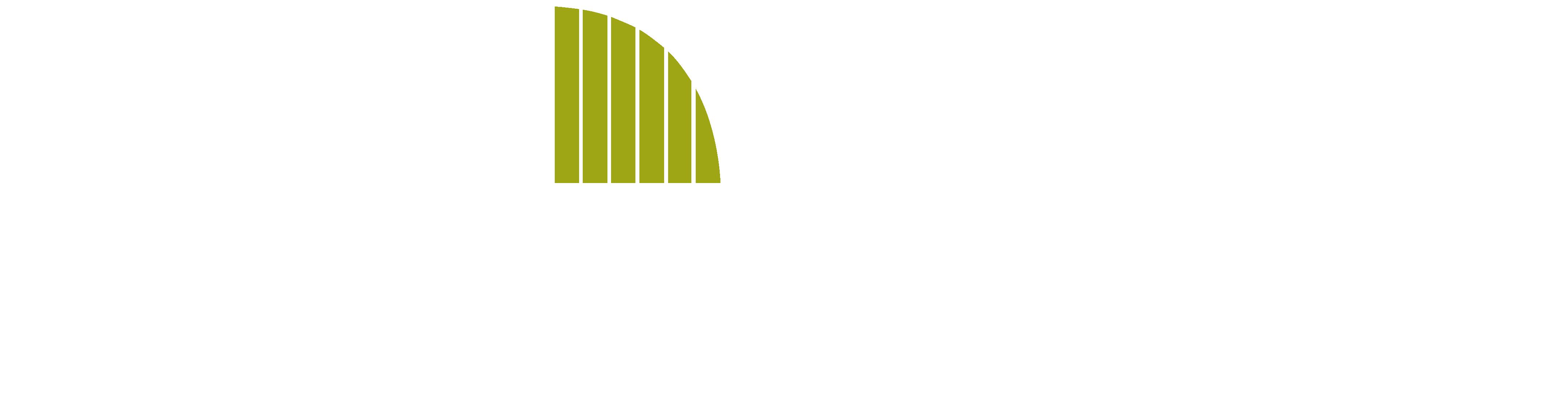 new creation decks logo - white