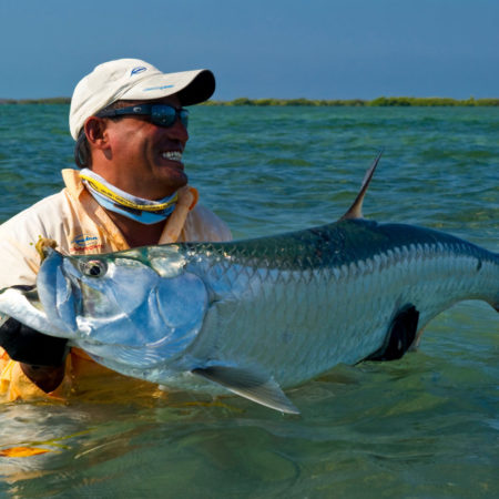 Fly fishing on Tarpon at Cuba at fishing vacation