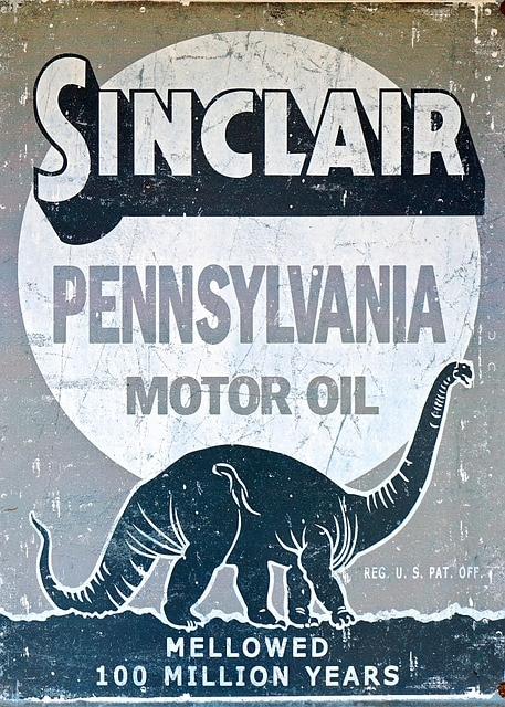 Sinclair motor oil sign