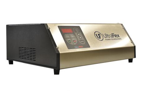 air-cooled desktop induction melter side