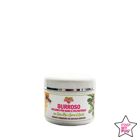 BURROSO - Balsamo idratante e rigenerante naso e polpastrelli con cera d'api e burro di karitè