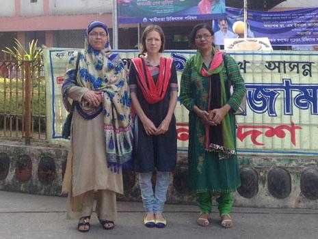 Dr Jameela Khan, Megan Doherty and Momena