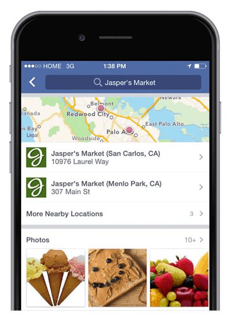 esempio shop offline location via mobile