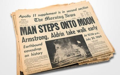 1969 – The Morning News: Man Steps onto Moon