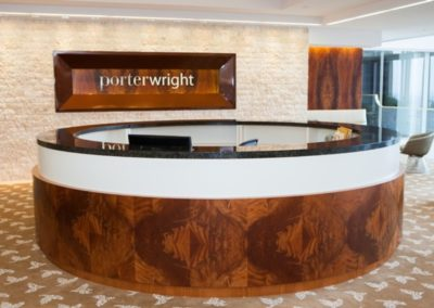 Porter Wright Columbus lobby wood work
