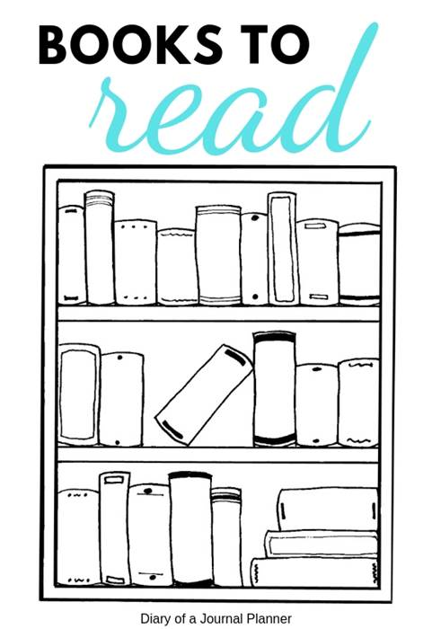 bookshelf bullet journal template free printable