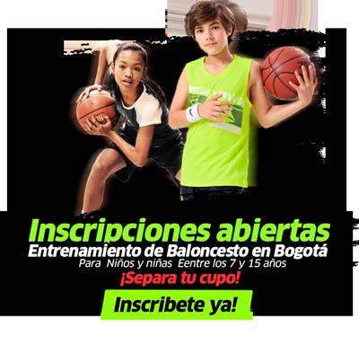 Escuela de basketball en bogotá, inscripciones para tomar clases de baloncesto en bogota