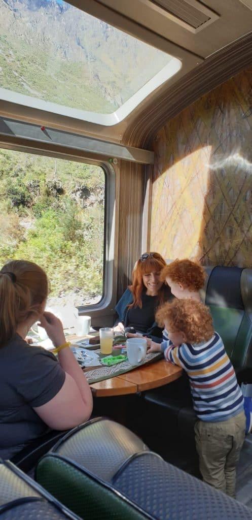 Vistadome train has really big panoramic windows