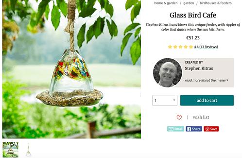 Glass bird cafe - Uncommon Goods