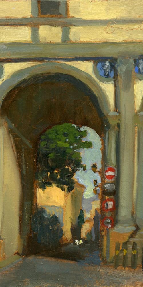 Via della Colonna Oil Sketch