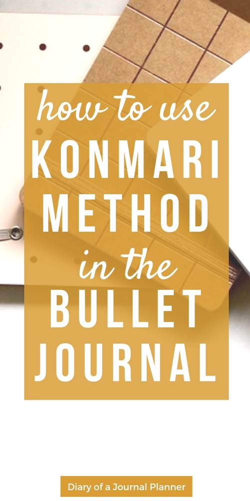 how to do the konmari method, tips for using your journal or planner