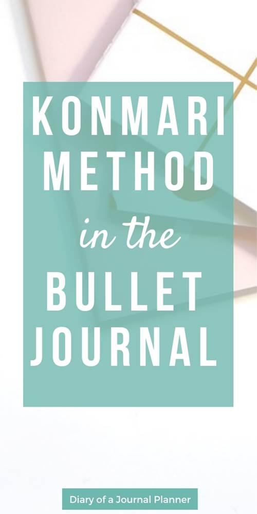 the konmari method in the bullet journal