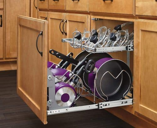 pull out cabinet organizer   Gift Guide for Messy People