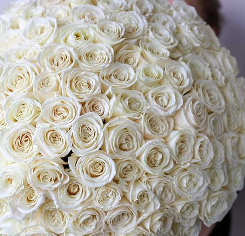 Монобукет из 101 Розы Эквадор №1142 - Фото 24