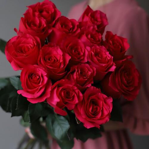 Монобукет из 15 роз (Эквадор) №1046 - Фото 34