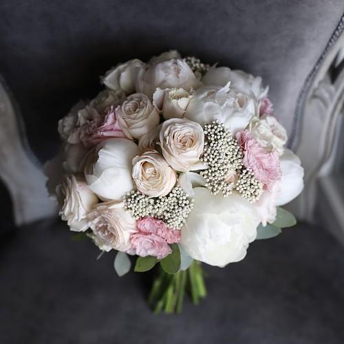 Классический букет невесты с пионами №973 - Фото 45