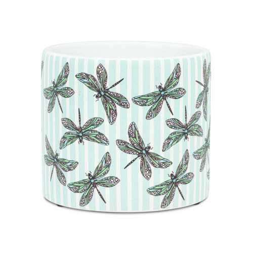 Abbott Decor Small Dragonfly and Stripe Planter