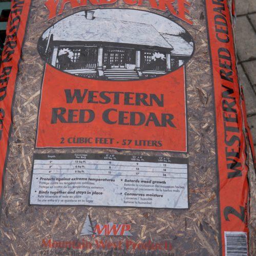 Western Red Cedar mulch