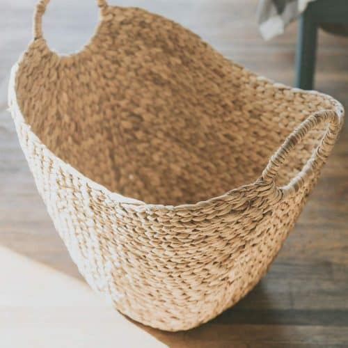 Large wicker storage basket Gift Guide for Messy People