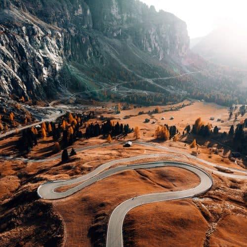 Road in the Dolomites