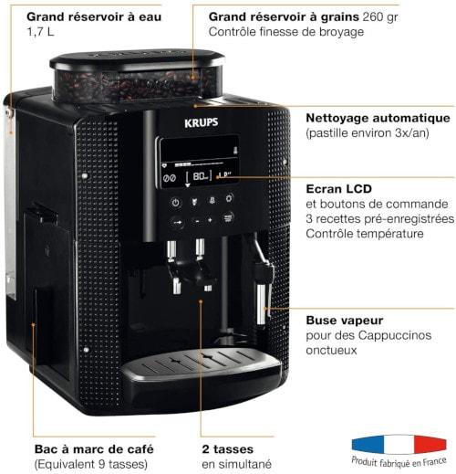 Schema description de la krups yy8135fd essential LCD