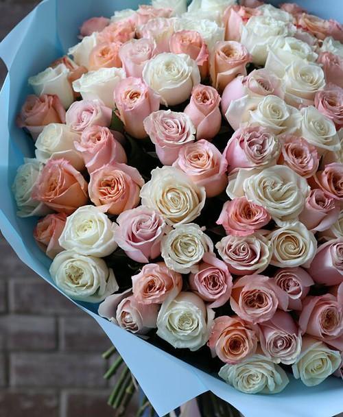 Монобукет из 101 Розы Эквадор №1140 - Фото 20