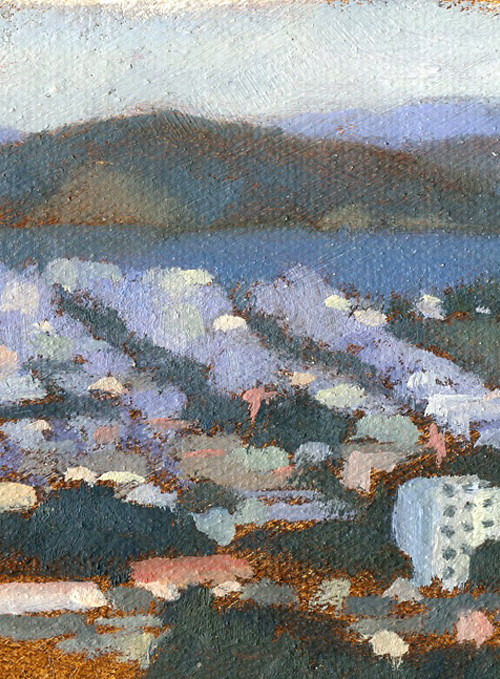 Angel Island Oil Sketch