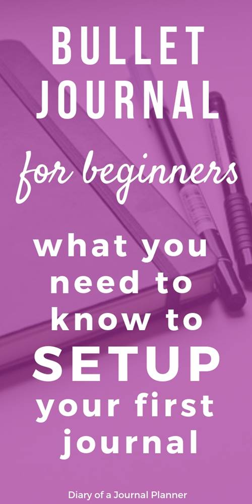 Bullet jurnal setup for beginners, what you need to know to setup your bujo