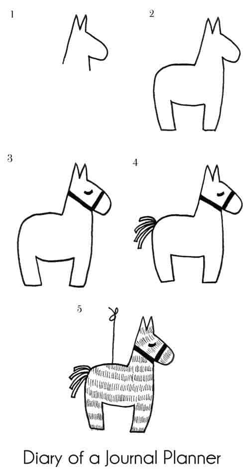 Pinata doodles step by step instructions