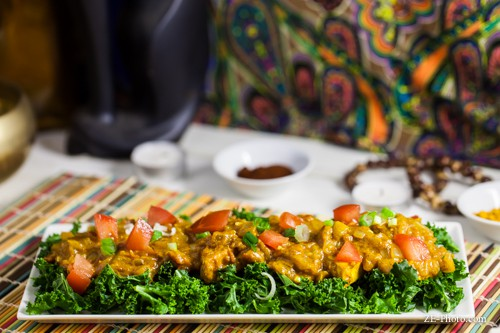 A rich, dreamy Indian Butter Tofu dish that's healthy and colorful! Recipe by Kylie of Fellowship of the Vegetable. Vegan, gluten-free