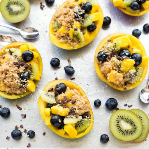 Toasted Quinoa-Stuffed Mangos