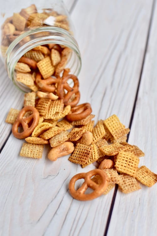 Gluten-free Dairy-free Chex Mix Recipe (Half Batch)