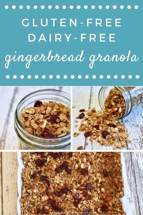 Gluten-free Dairy-free Gingerbread Granola