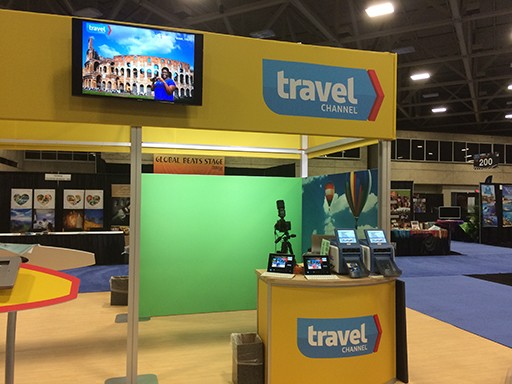 experiential photo marketing booth for travel channel