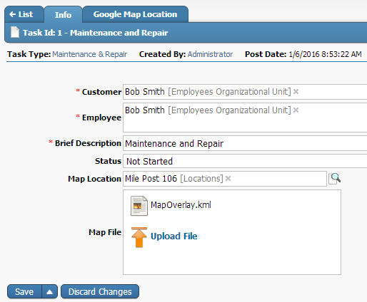 Task ID HighGear Google integration with Maps