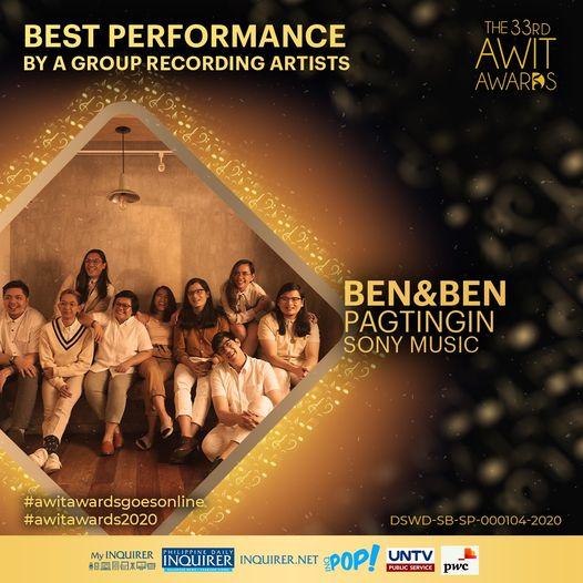 Awit Awards 2020 Ben&Ben