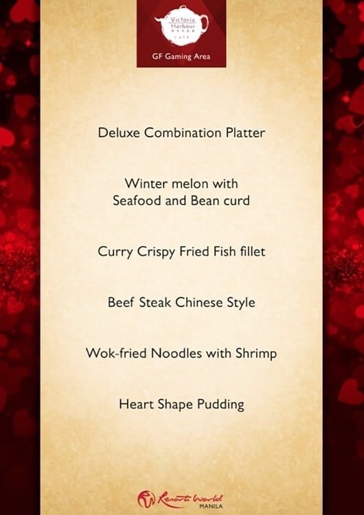 Valentine's Day 2015 at Resorts World Manila - Victoria Harbour Cafe