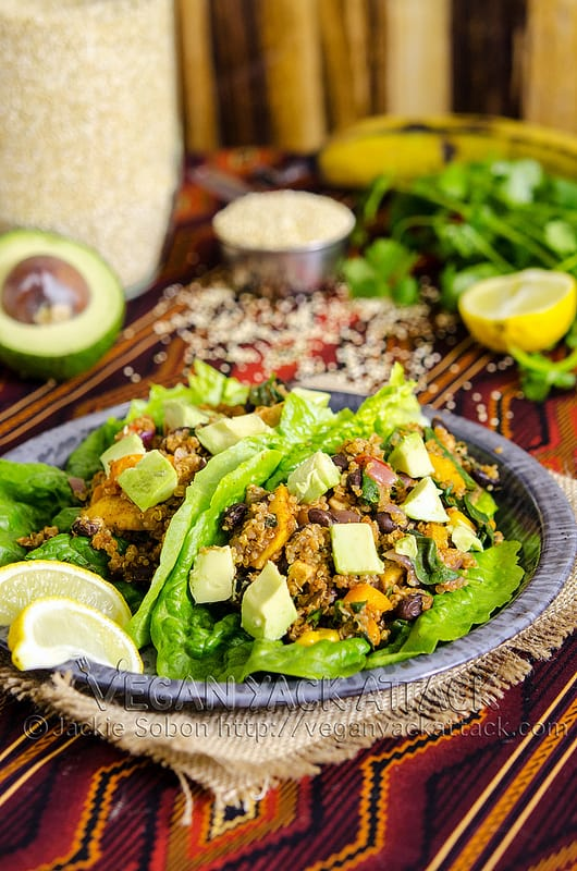 Fiesta Lettuce Wraps on a plate