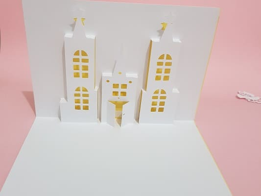 This is a pop-up card for you to make. There is a free template in the resource library.