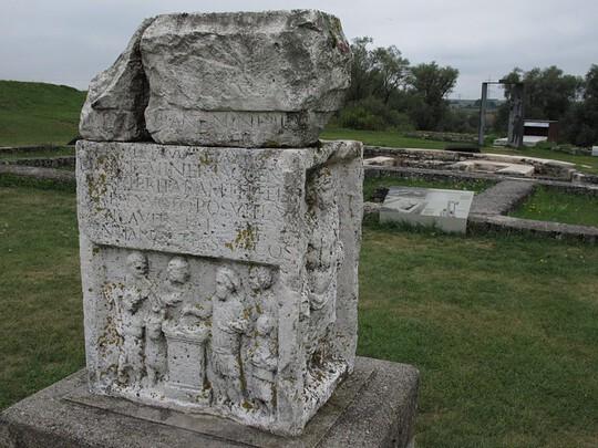 Pozůstatky římské pevnosti Abusina, Foto Michael Körner