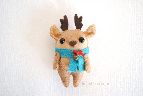 reindeer felt ornament pattern