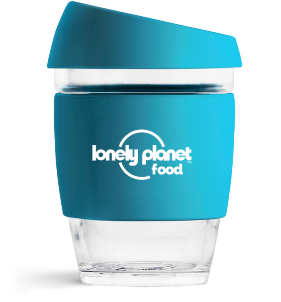 Lonely Planet Branded Reusable Coffee Cup From JOCO