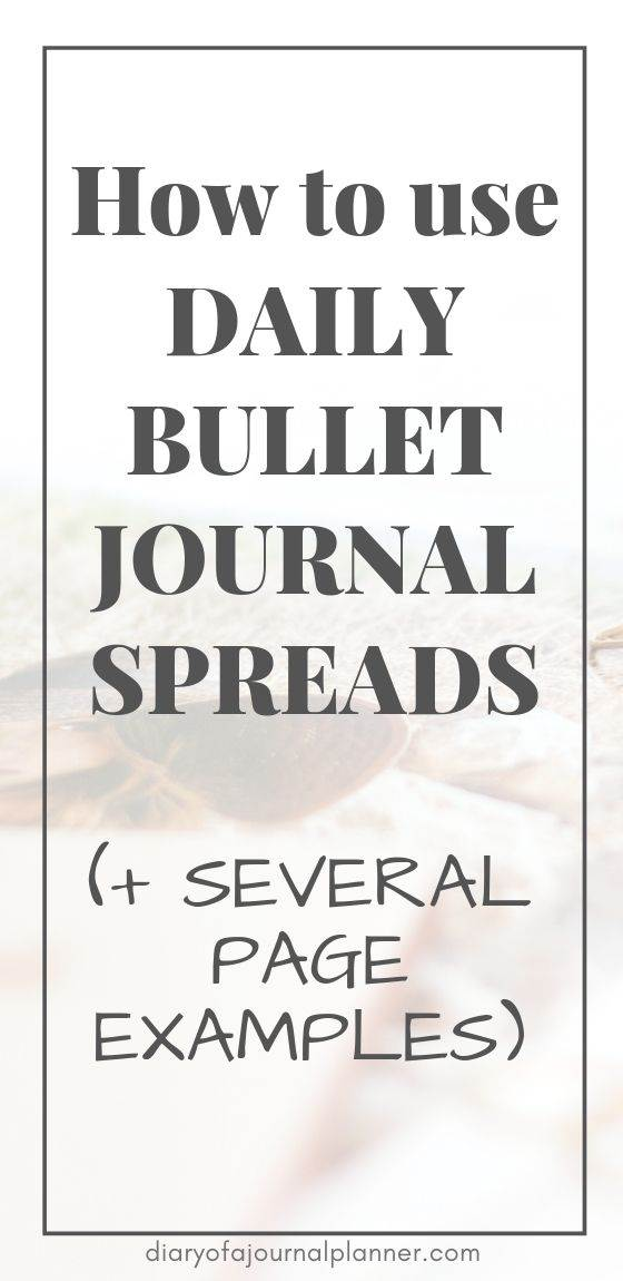 Bullet journal daily spread ideas and inspiration