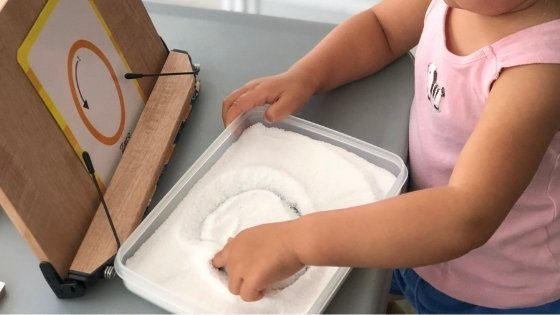 Salt Writing Tray Activity