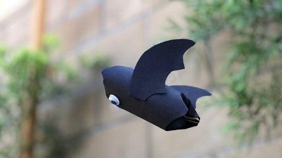 flying paper tube bat craft 2