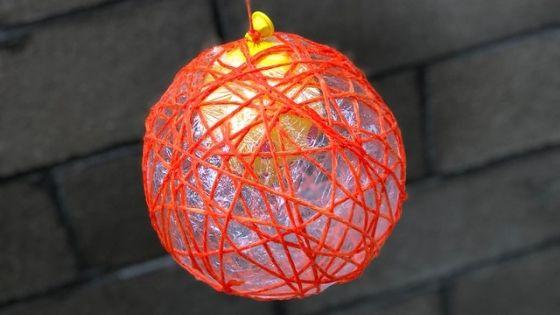 Yarn Pumpkin Balloon Popped