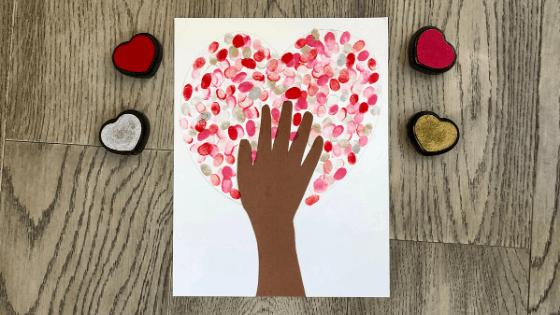 Hand on Heart Valentines Day Craft 5